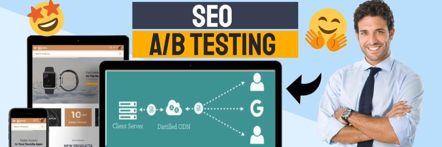 SEO A/B testing featured image.