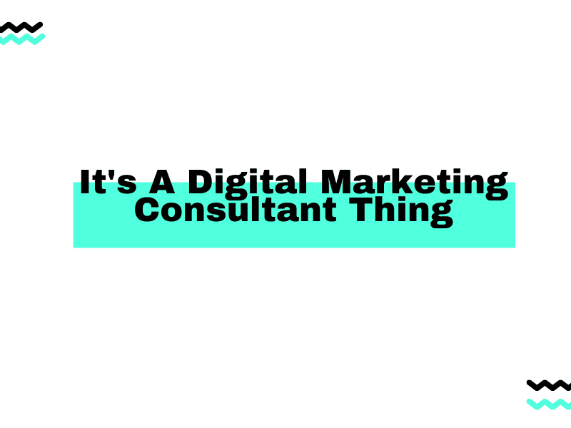 It's A Digital Marketing Consultant Thing