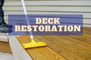 Image shows Deck care and maintenance - as part of our Deck Restoration Guide