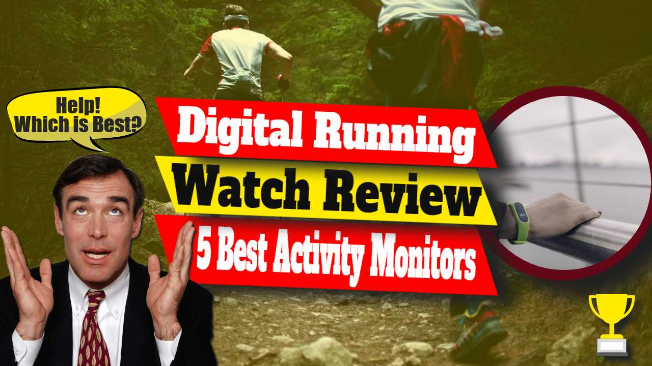 "Image text: ""Digital running watch review""."