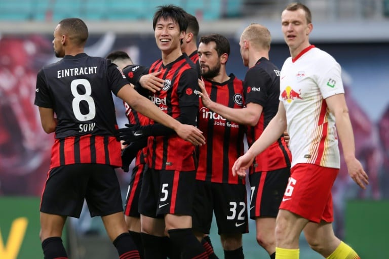 Kamada dents Leipzig's title hopes in Frankfurt draw