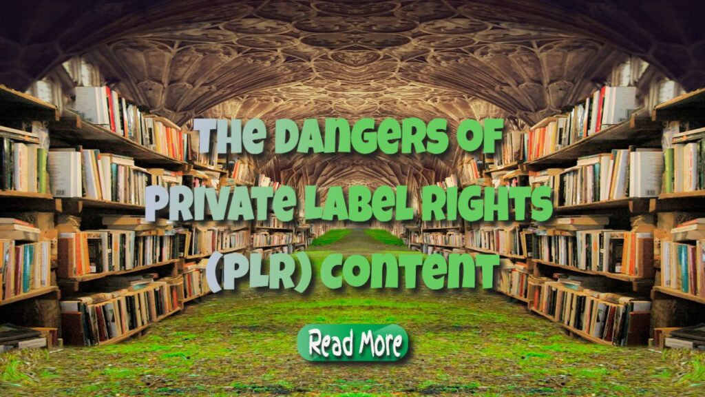 The Dangers of Private Label Rights (PLR) Content